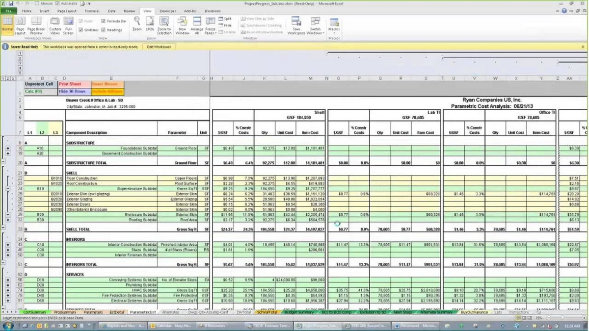 Construction estimating spreadsheets spreadsheets for Estimation construction