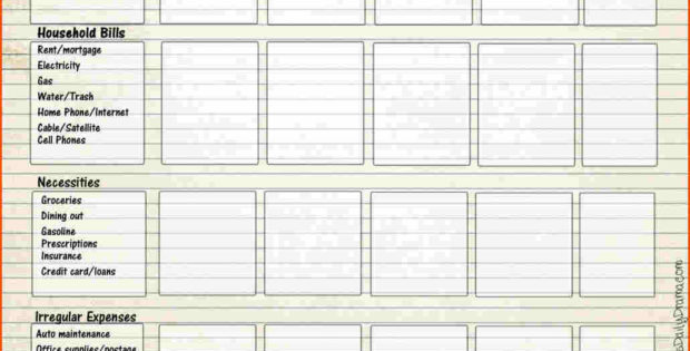 Free Printable Budget Forms  Spreadsheets