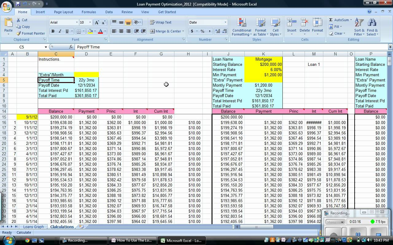 bill payment spreadsheet excel templates free