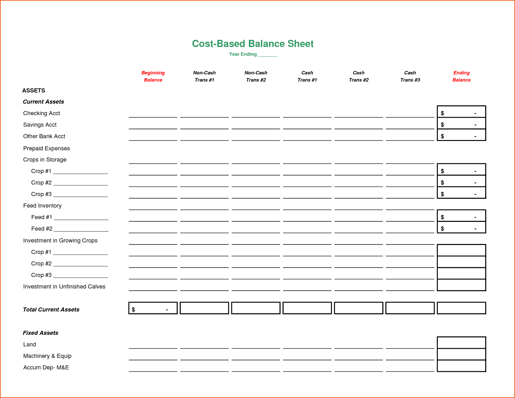 personal assets and liabilities spreadsheet template free