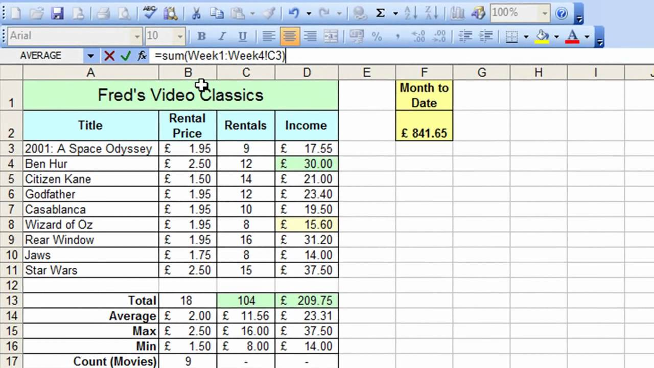 Courses On Excel Spreadsheets Free
