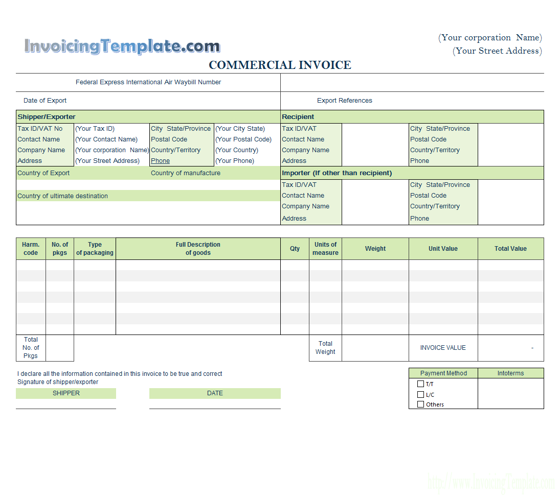templates free create invoices from excel spreadsheet